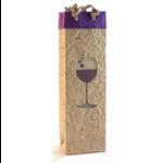 Bella Vita Purple Wine Glass One Bottle Gift Bag