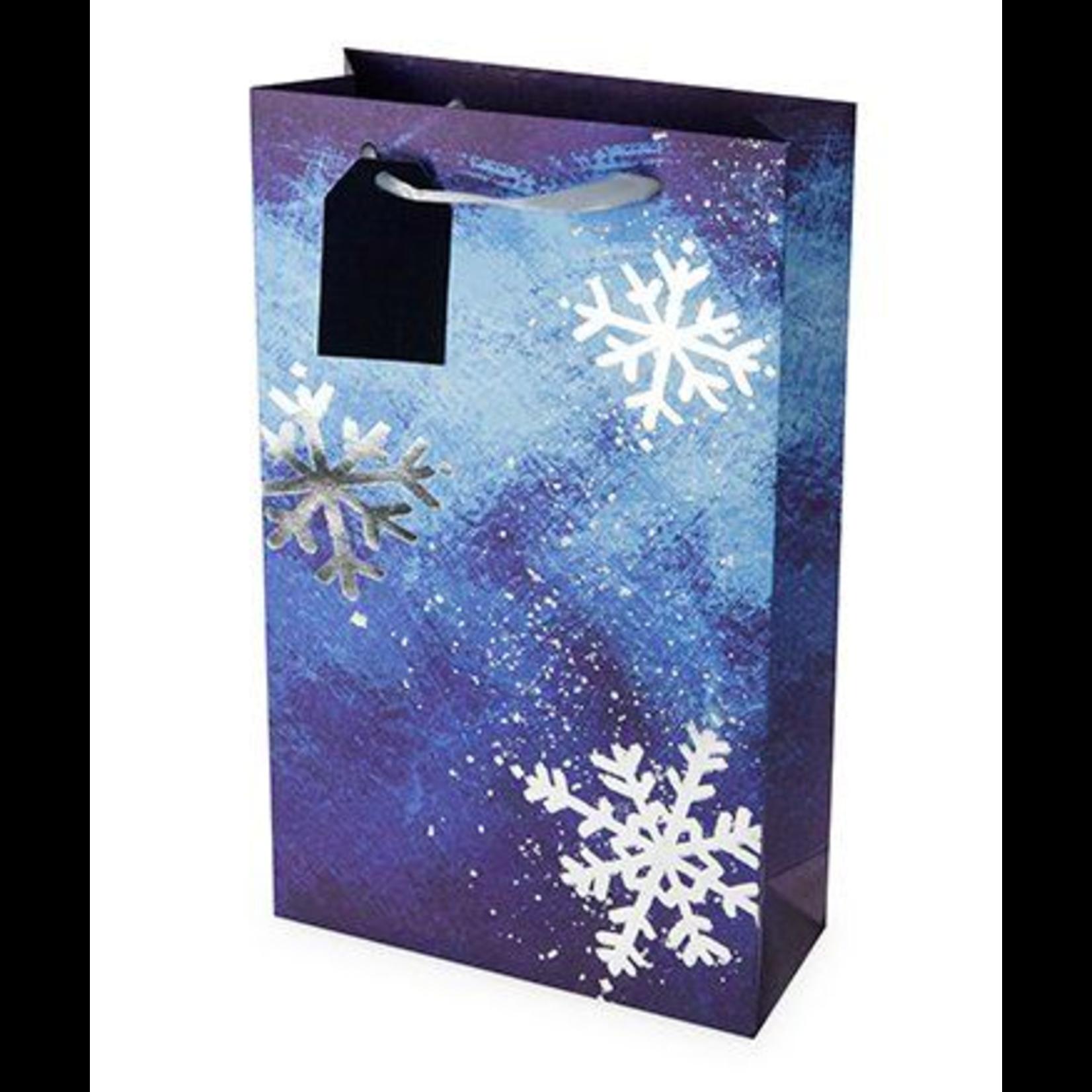 True Brands Brushed Snowflake Double-Bottle Wine Bag