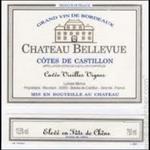 Château Bellevue Ch Bellevue Cuvee Vieilles Vignes 2016   Bordeaux, France