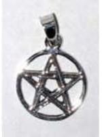"Pentacle Pendant - Sterling Silver 3/4"""