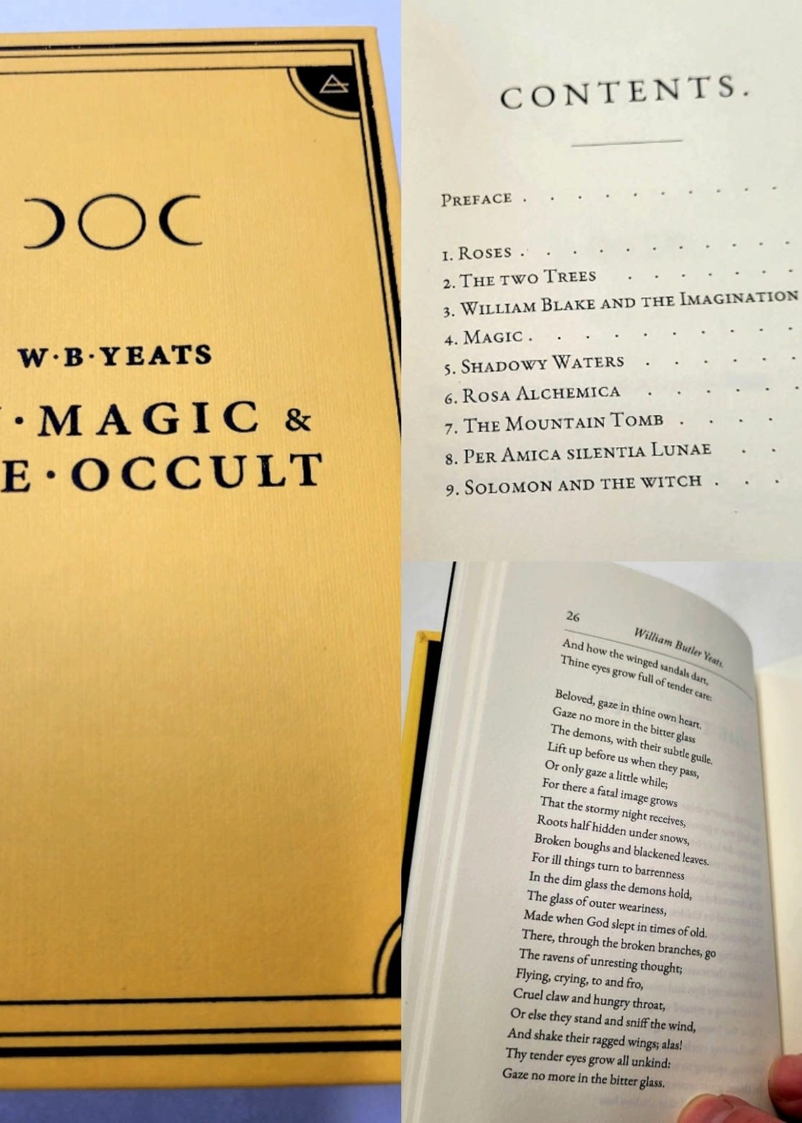 W. B. Yeats - On Magic & The Occult Edited by Claudio Rocchetti  Cover Design by Alice Winkler