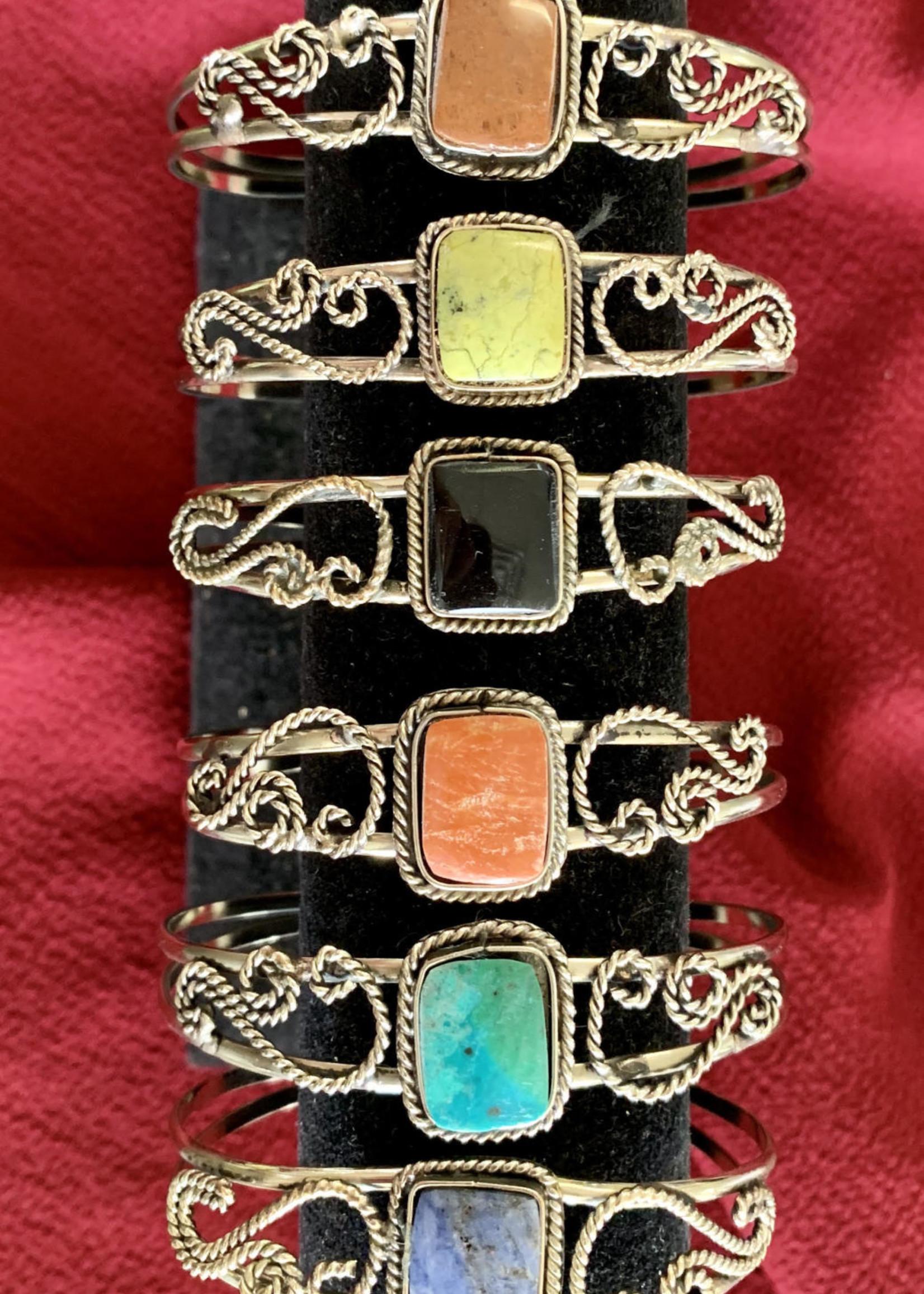 Gemstone Cuff Bracelets from Peru