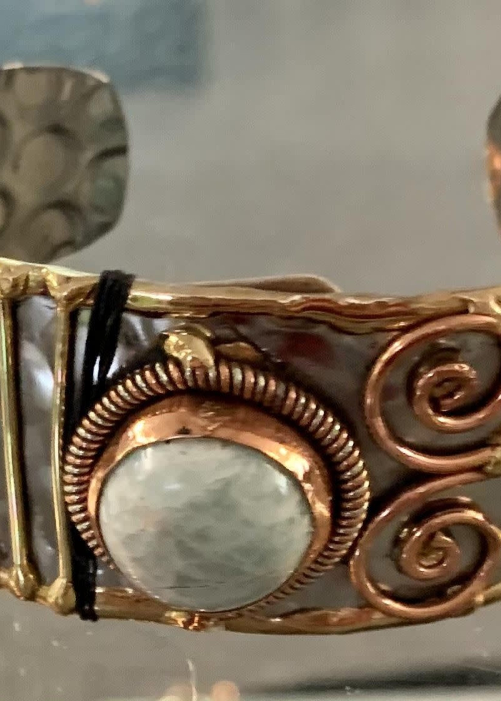 Hand-crafted Mixed Metal and Semi Precious Stone Cuff Bracelet Assortment