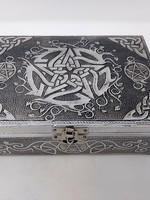 Box Metal - Pentacle Celtic w/Black Velvet Liner 5X7''