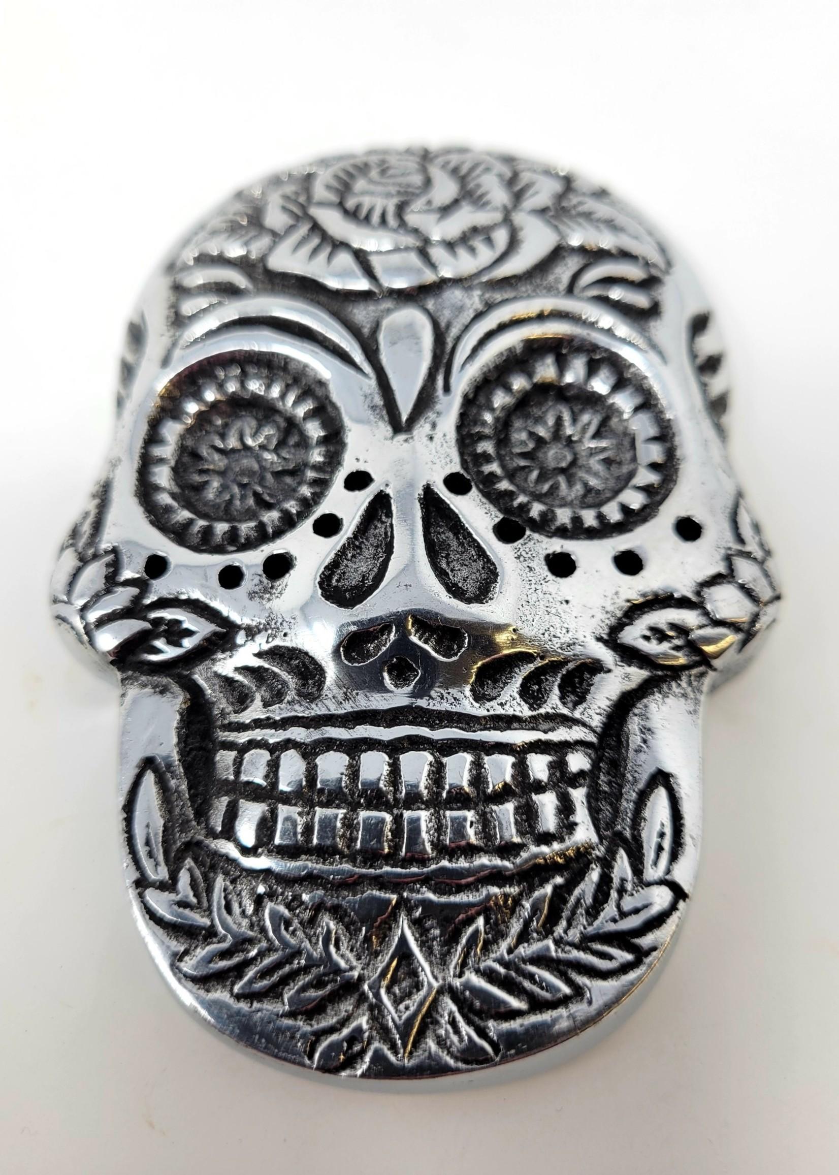 Sugar Skull Metal Incense Burner
