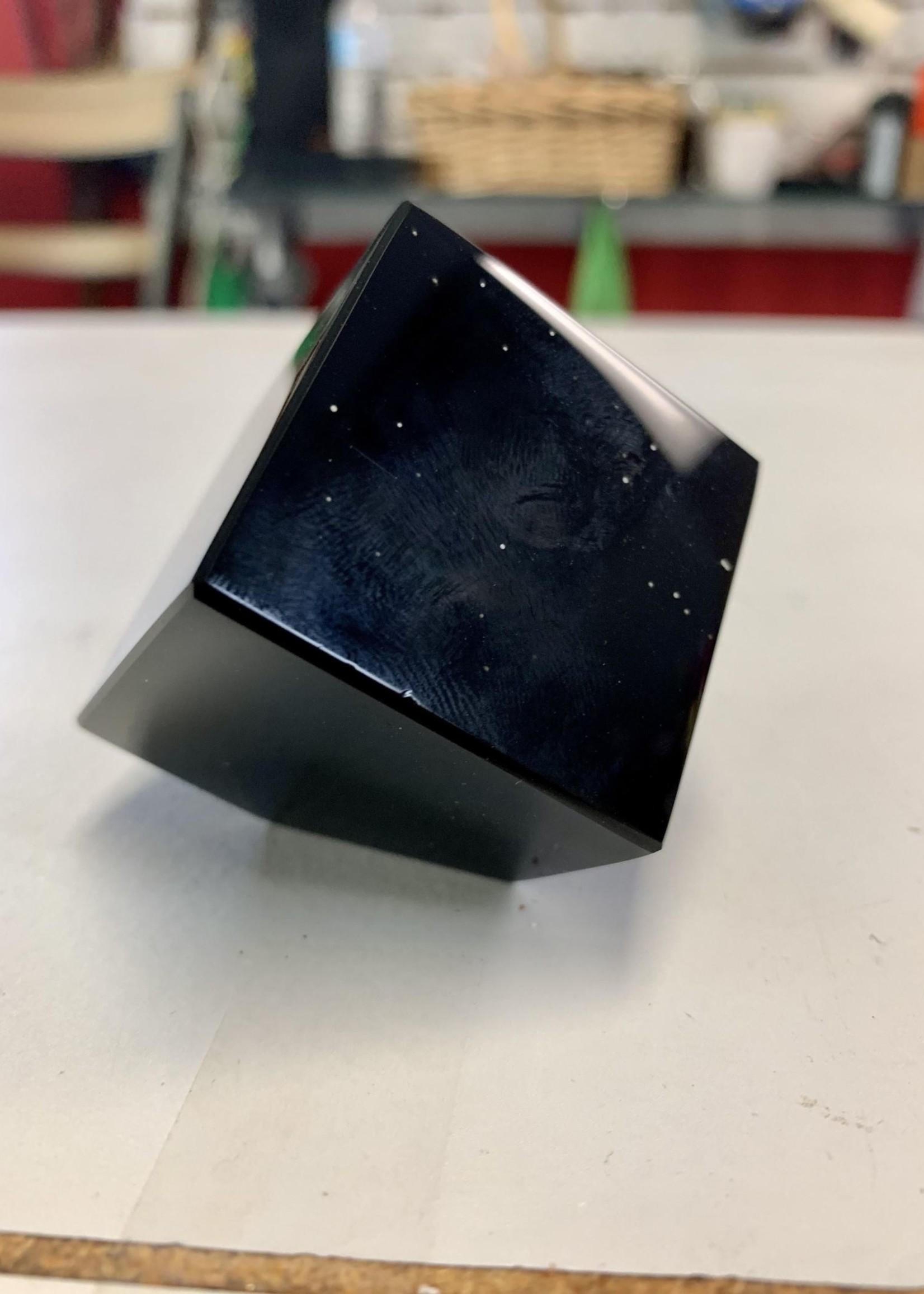 Black Obsidian Tilted Cube