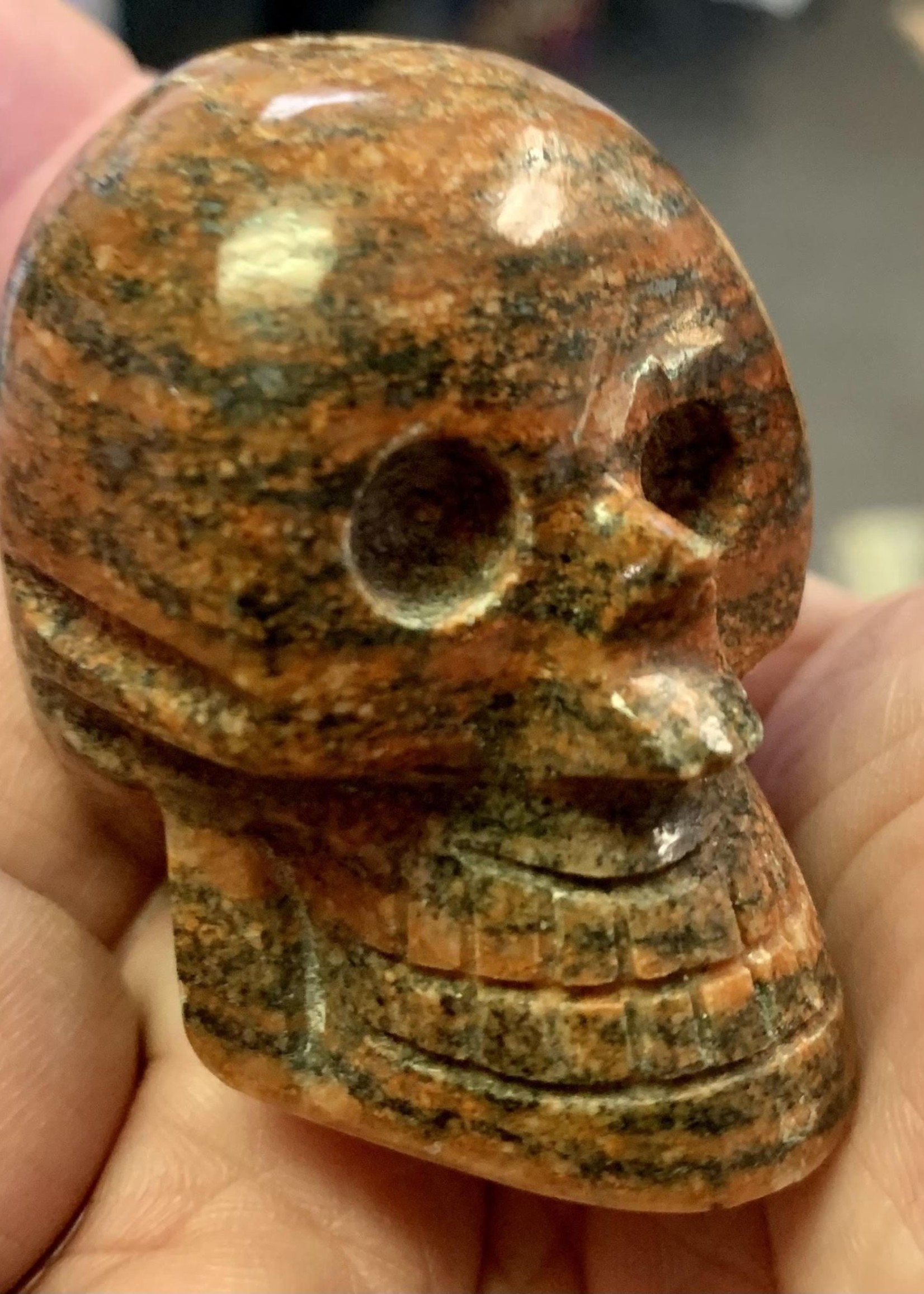 Hand Carved Peruvian Gemstone Skulls