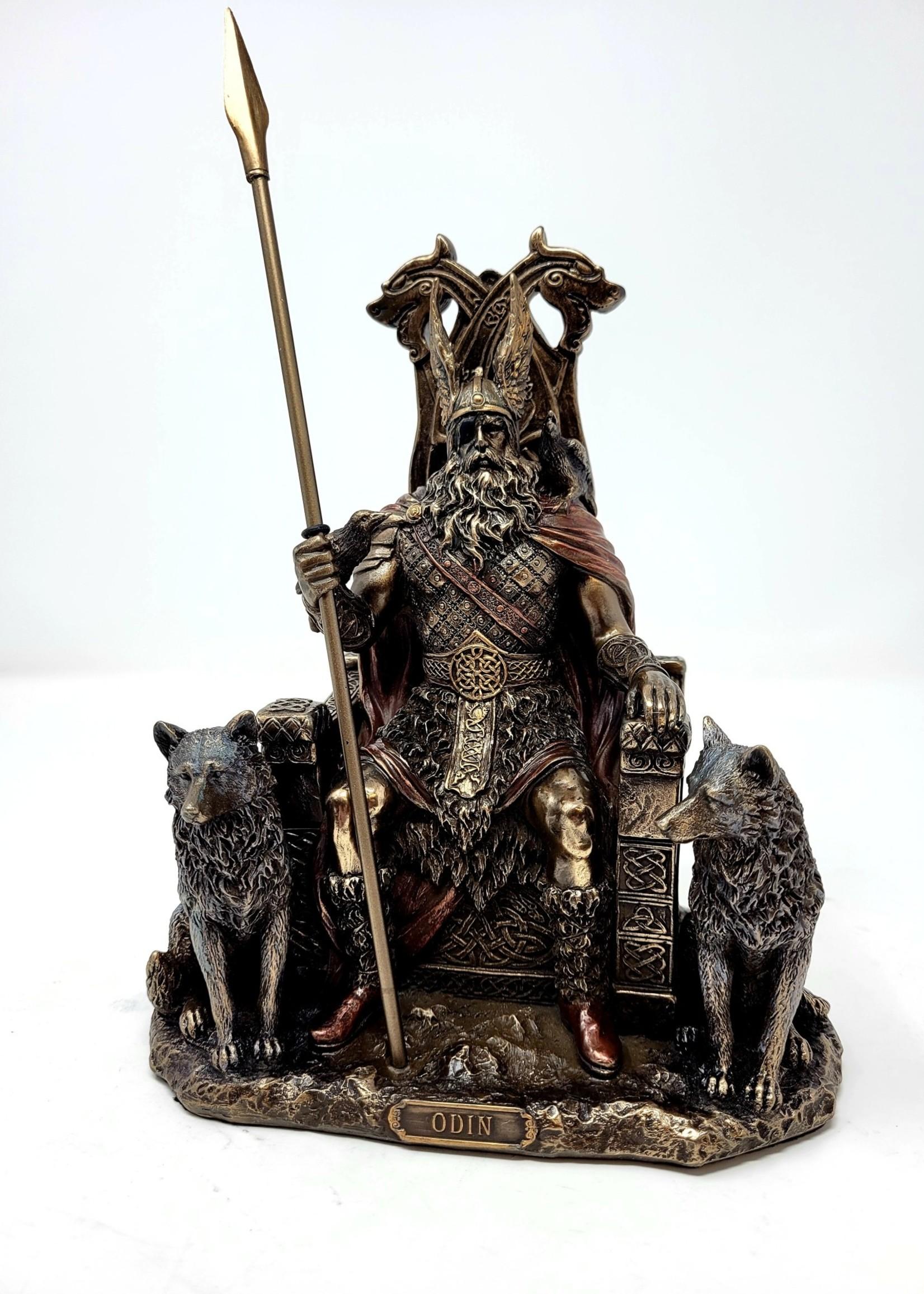 Odin Sitting On Thrown With Geri & Freki