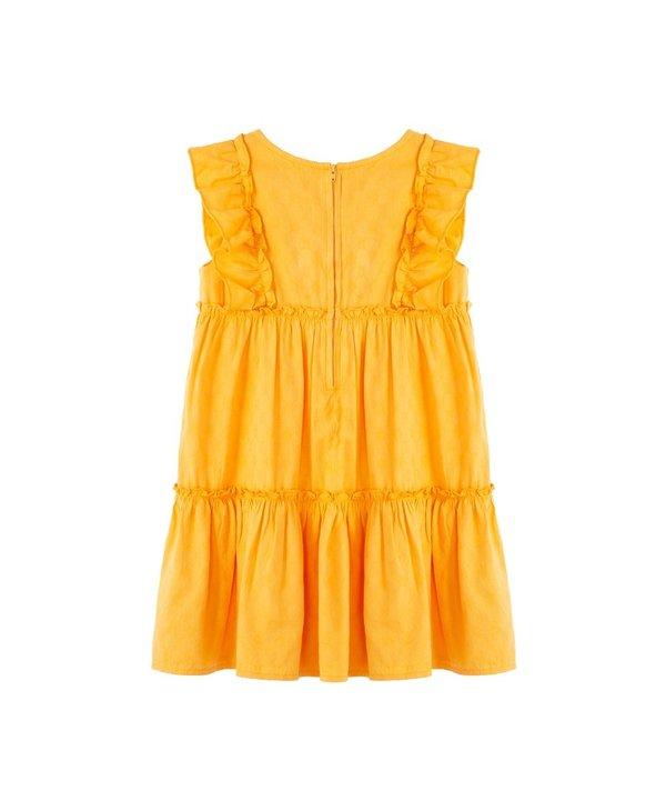 Yellow Tiered Dress