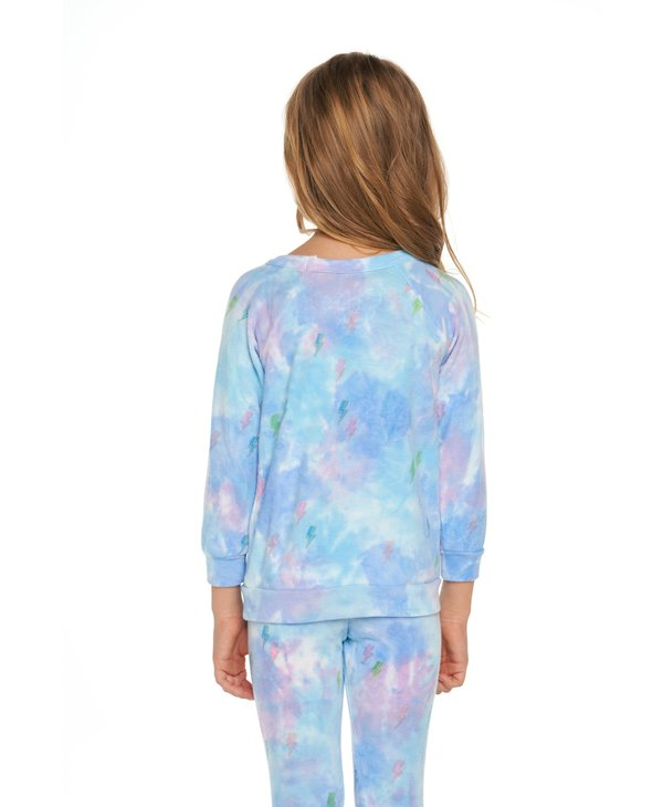 Tie Dye Bolts Pullover