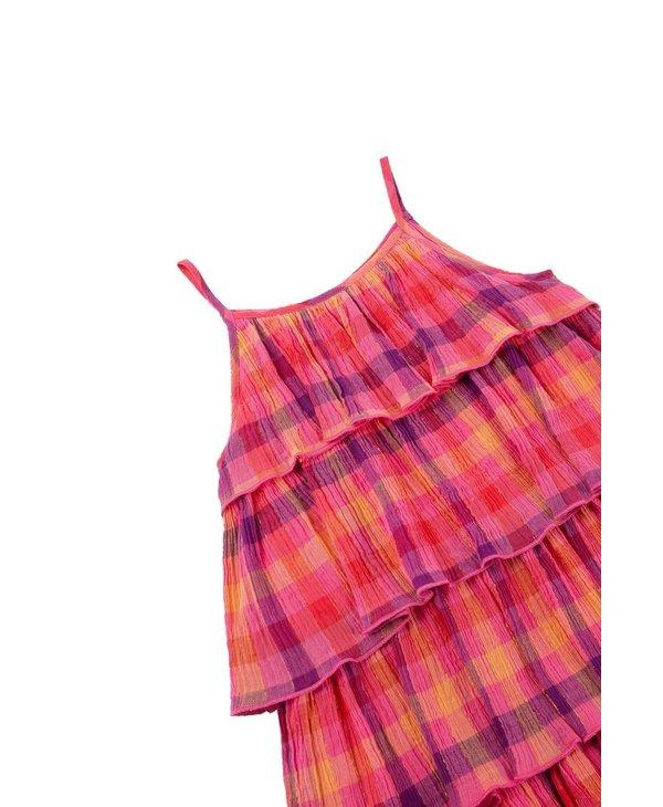 Tiered Plaid Dress