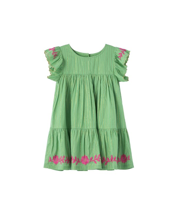 Sparkle Stripe Embroidered Dress