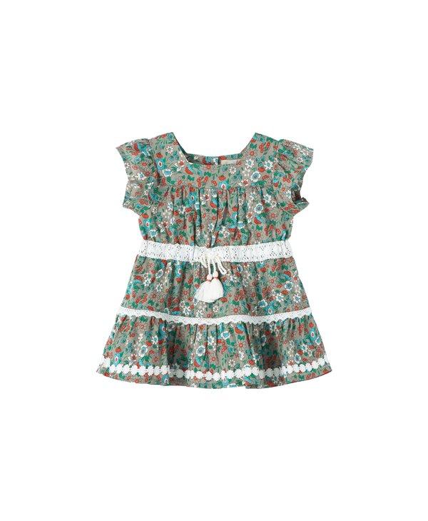 Prairie Floral Tiered Baby Dress