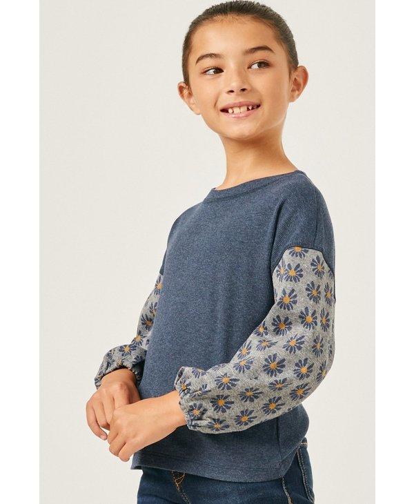 Daisy Sleeve Pullover