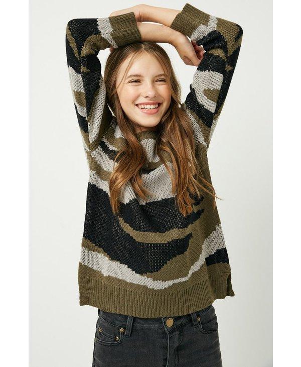 Knit Camo Sweater
