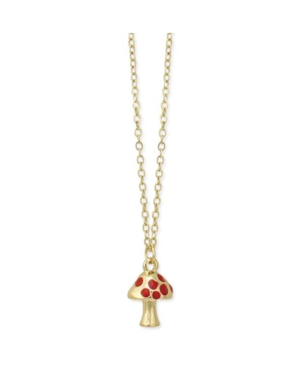 Tiny Toadstool Mushroom Necklace