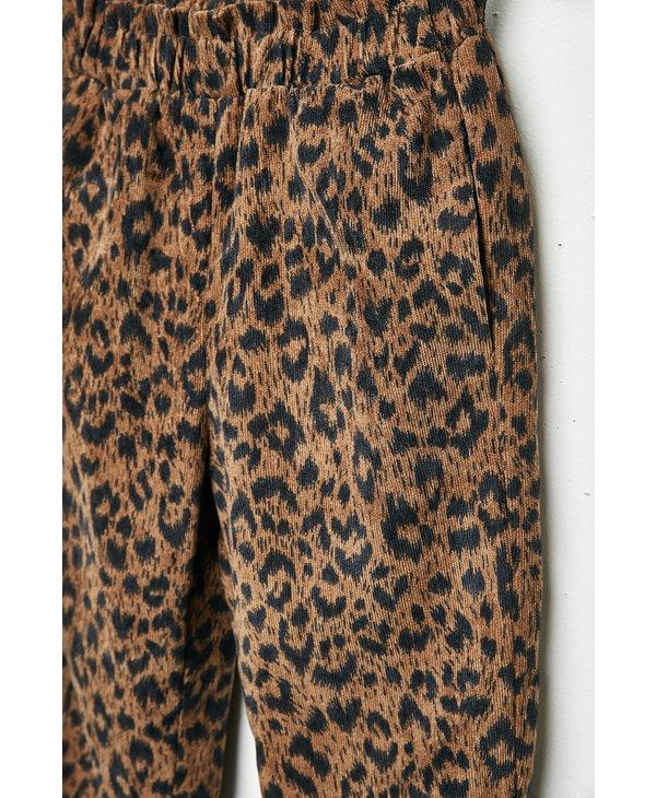 Leopard Cord Joggers