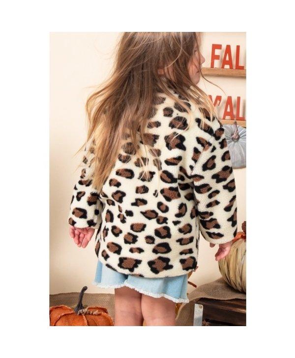 Fleece Leopard Zip Up