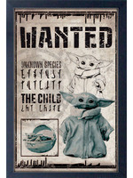NEW! The Mandalorian The Child Wanted Poster - Framed Print