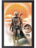 NEW! The Mandalorian Sun Up Mando & The Child - Framed Print