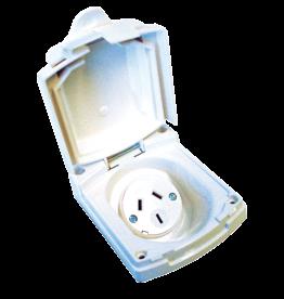 CLIPSAL CLIPSAL (NEW) WHITE EXTERNAL 10 AMP POWER OUTLET. V415VFWE