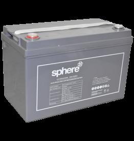 SPHERE Sphere 12V 120AH Valve Regulated AGM Rechargeable Battery.