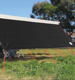 COAST V2 BLACK Sunscreen W4940mmxH1800mm T/S 17' CF Awning.
