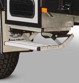 COAST Mk2 Silver Spring Loaded ALUMINIUM Fold Out Single Step - 588mm Wide