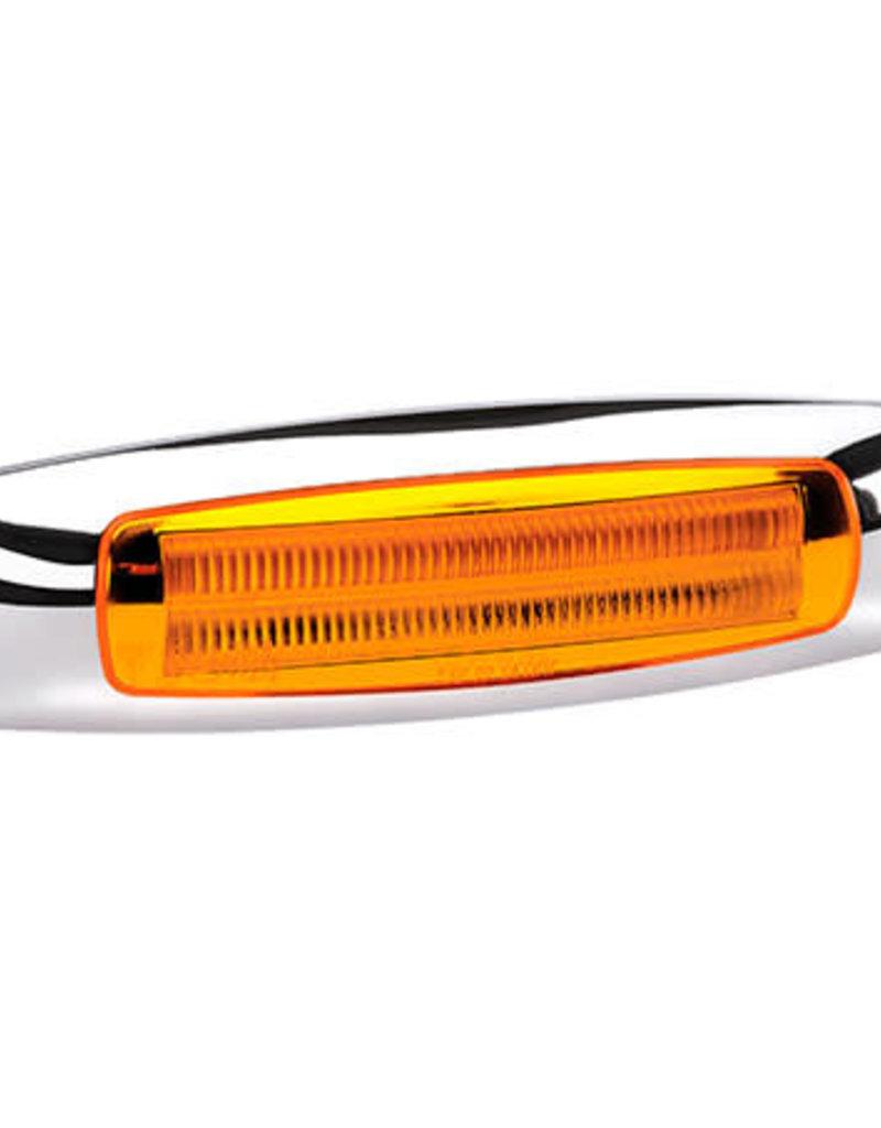 24 LED Side Marker Lamp With Chrome Cover 9-33V
