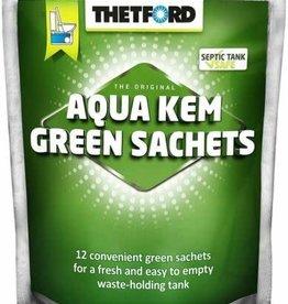 COASTTOCOAST THETFORD AQUA KEM GREEN ZIP BAG SACHETS.30530ZK