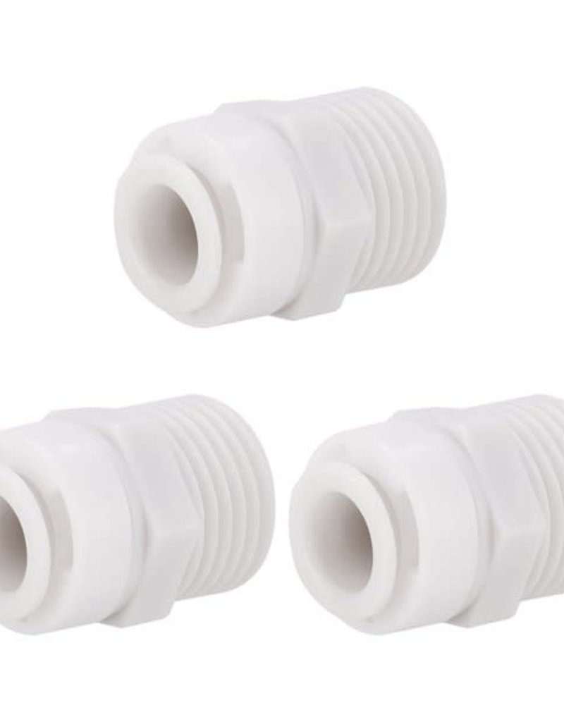 """1/2"""" Male NPT x 3/8"""" Tube Quick Connect, Straight"""