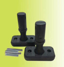 COOLABAH Coolabah Tiller Joint - drilled with roll pin - PAIR