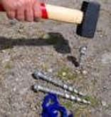 PEGGY PEG 150mm HARDCORE ALUMINIUM SCREW IN PEGGY PEG - 4 PACK