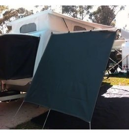 SUPEX CARAVAN END WALL SCREEN BLACK WITH D RING EYELETS