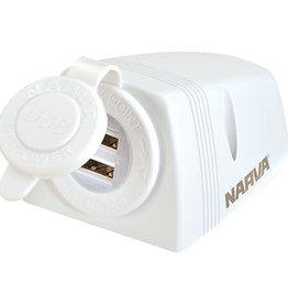 NARVA Narva Dual USB Socket White