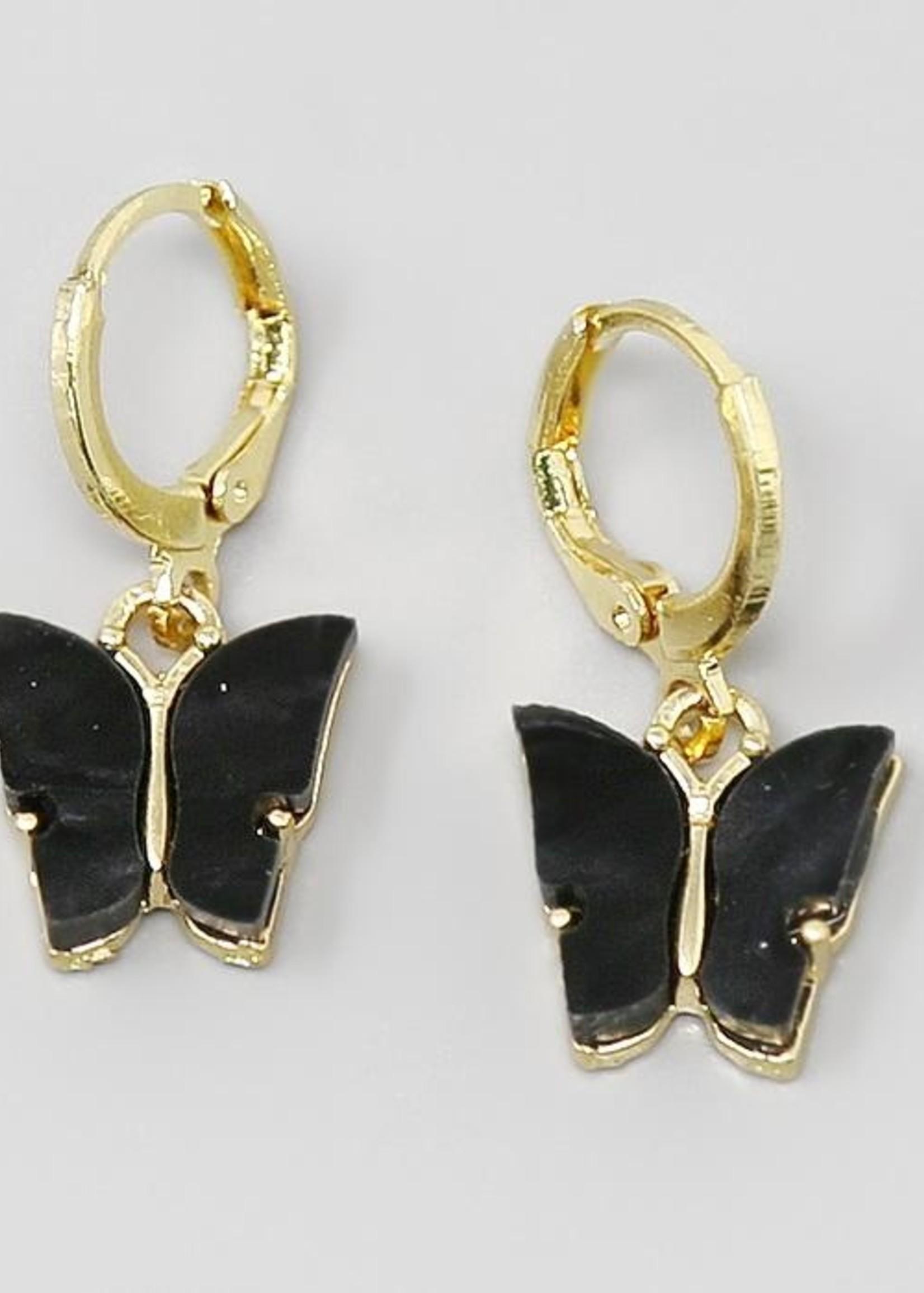 Mini Butterfly Charm Earrings