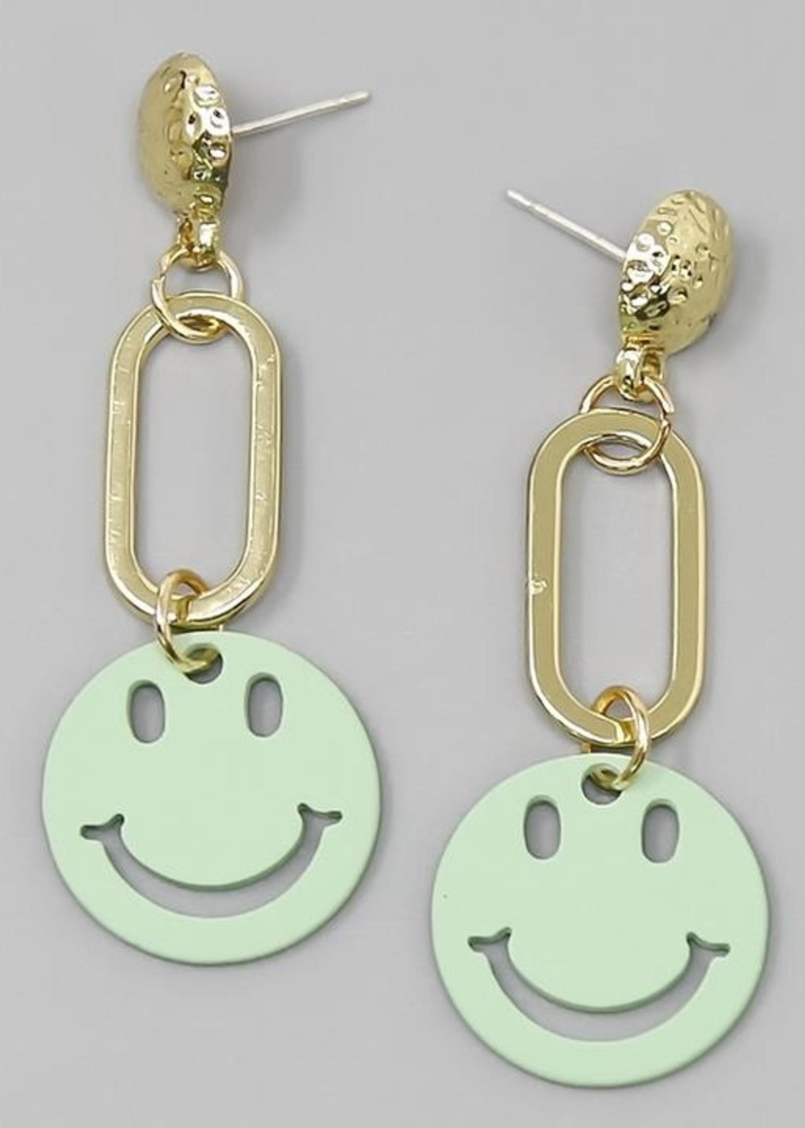 Smiley Charm Earrings