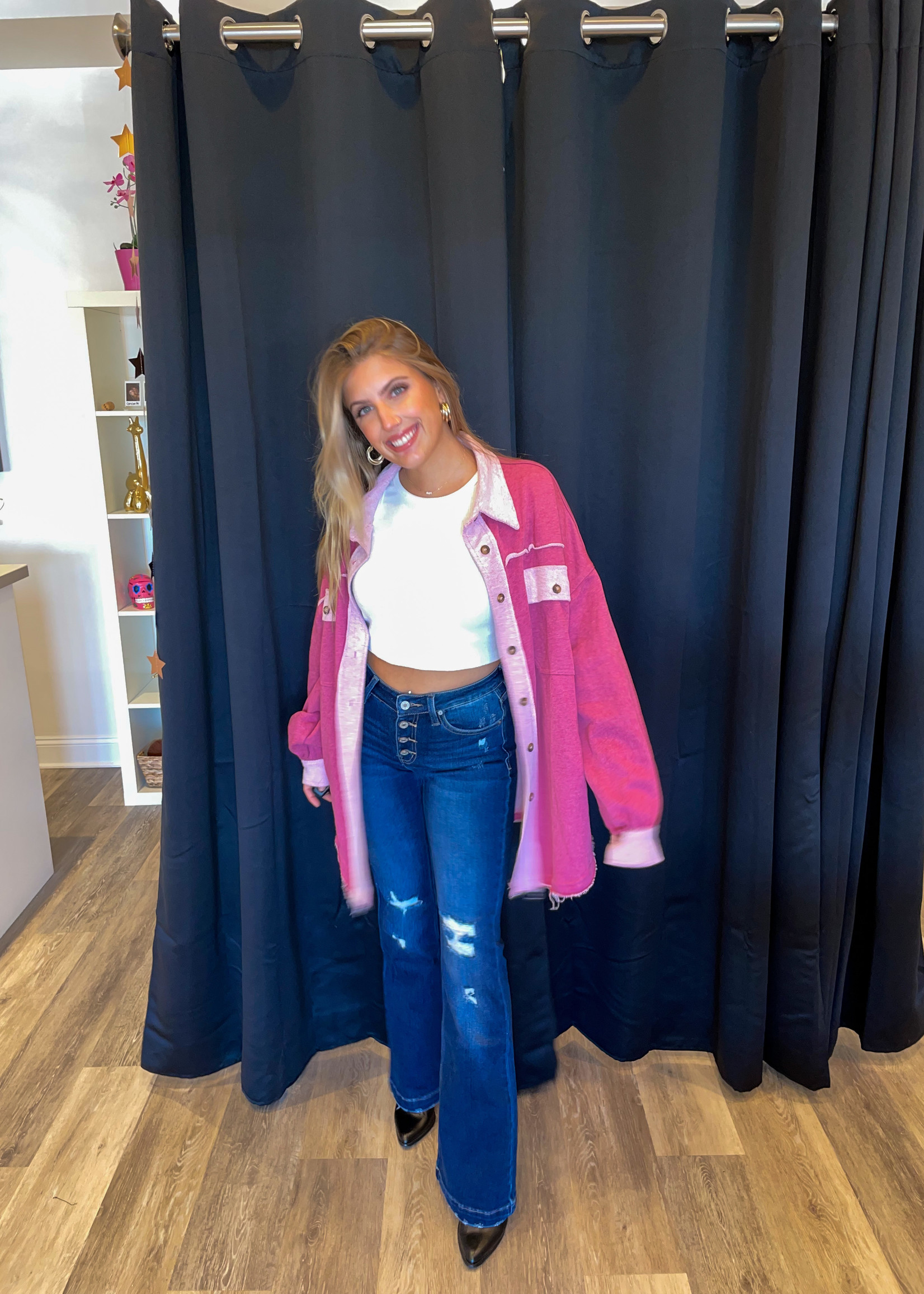 Pink Punch Over Sized Jacket