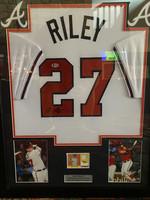 Austin Riley - Signed & Framed Atlanta Braves Jersey, Certified by Beckett