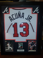 Ronald Acuna - Signed & Framed Atlanta Braves Home Jersey, Certified by Beckett