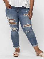 Judy  Blue Plus-Size Boyfriend Fit Jeans