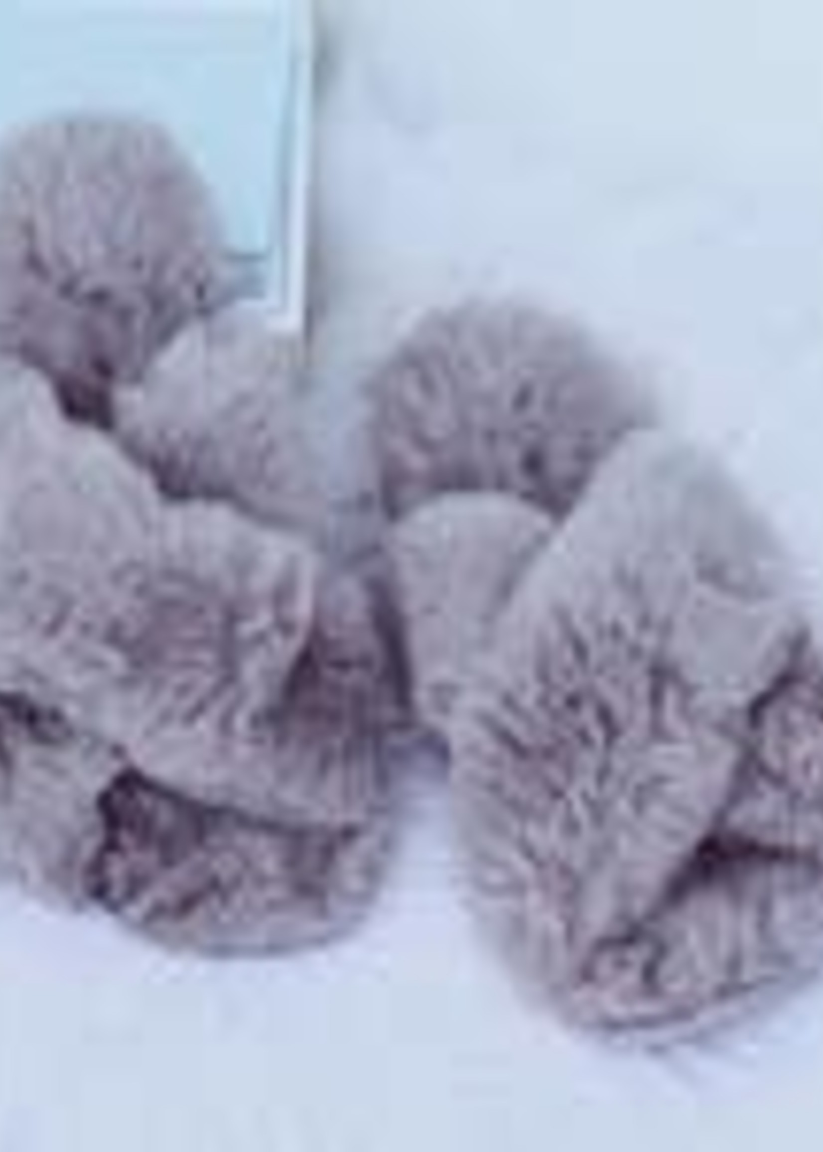 Fuzzy Cross Band Slippers