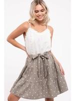 Textured Sleeveless Mini Dress