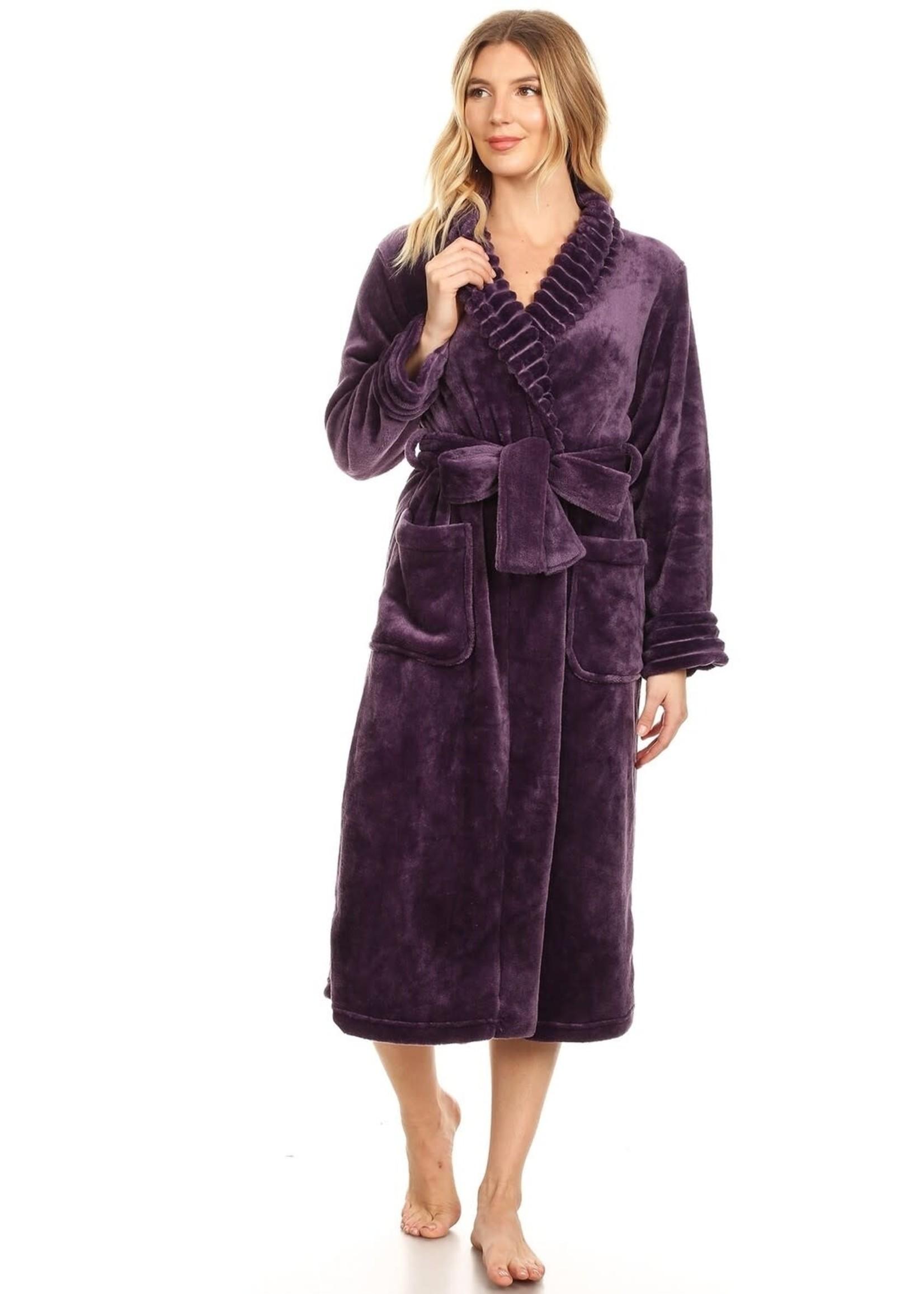 Purple Super Soft Lounge Robe