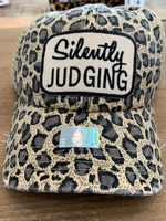 Tan Leopard Silently Judging Patch Cap