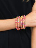 Malibu Sunset Disk Bracelets - Multi