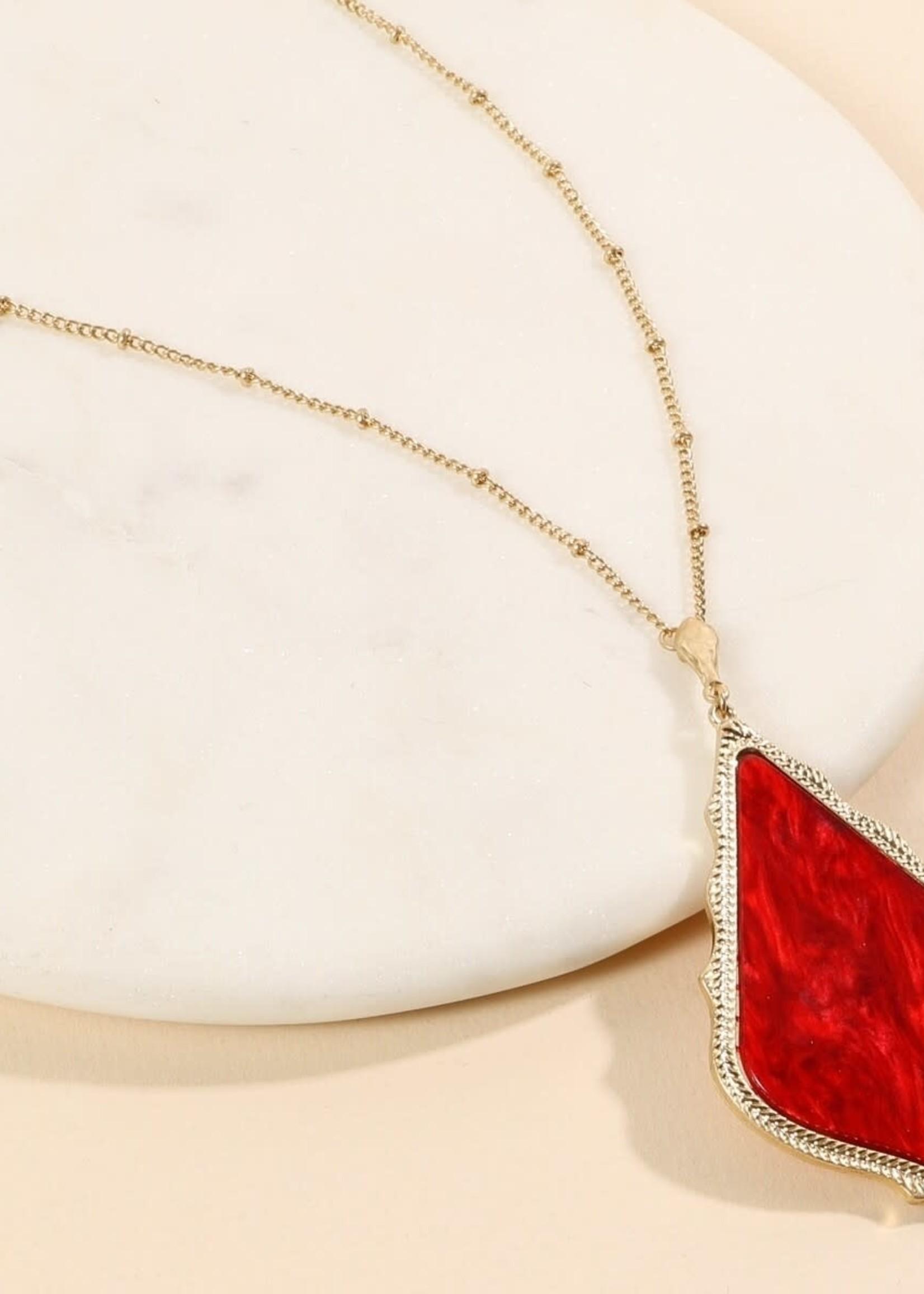 Rhombus Pendant Long Necklace