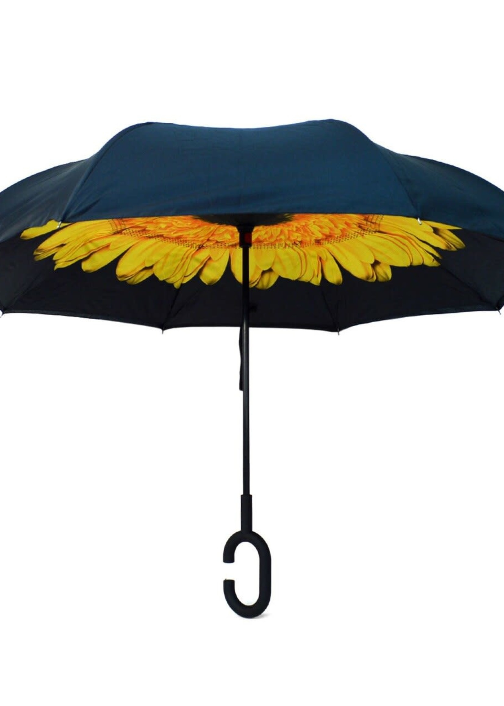 Yellow FlowerDouble Layer Inverted Umbrella
