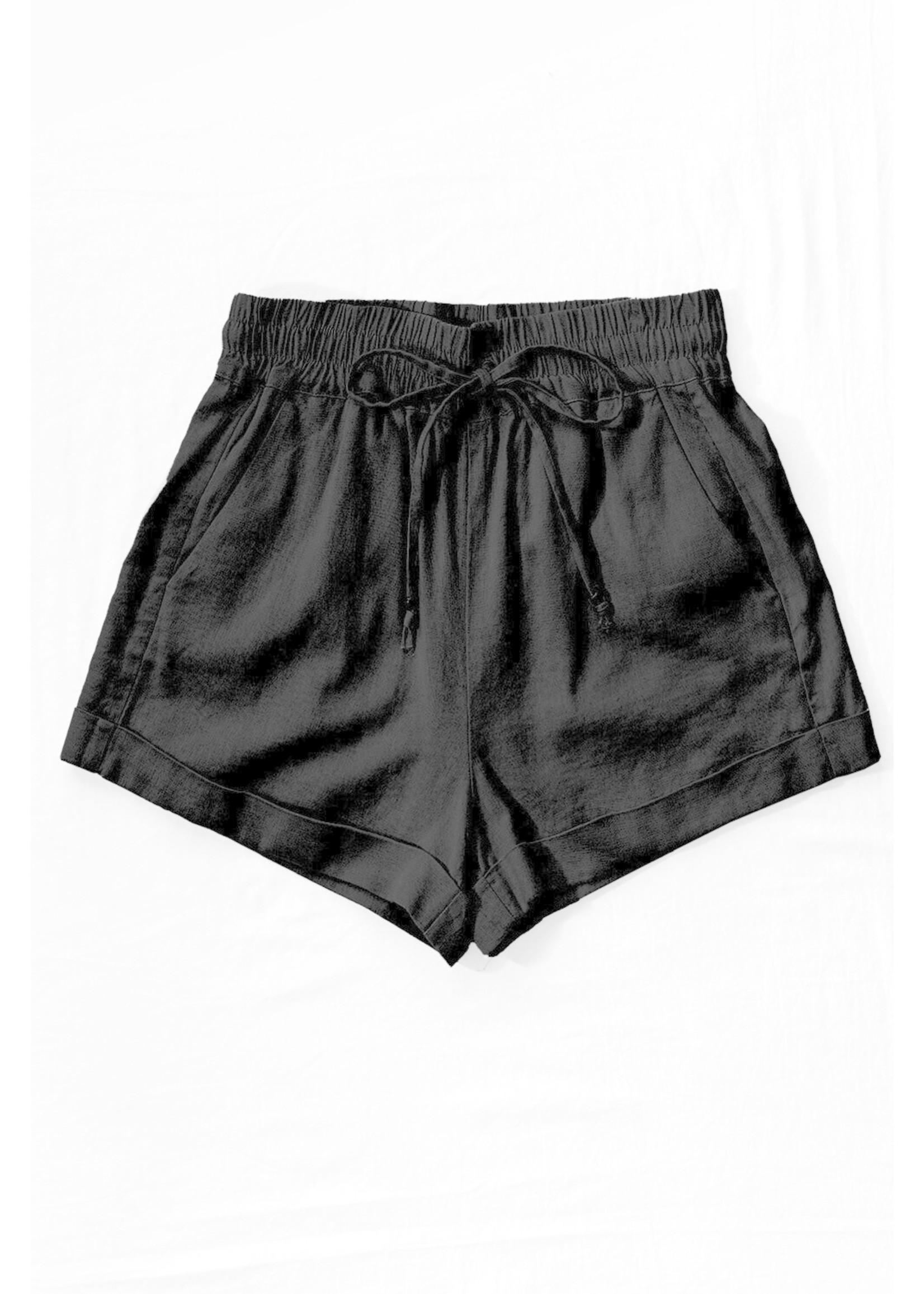 Linen Waistband Shorts