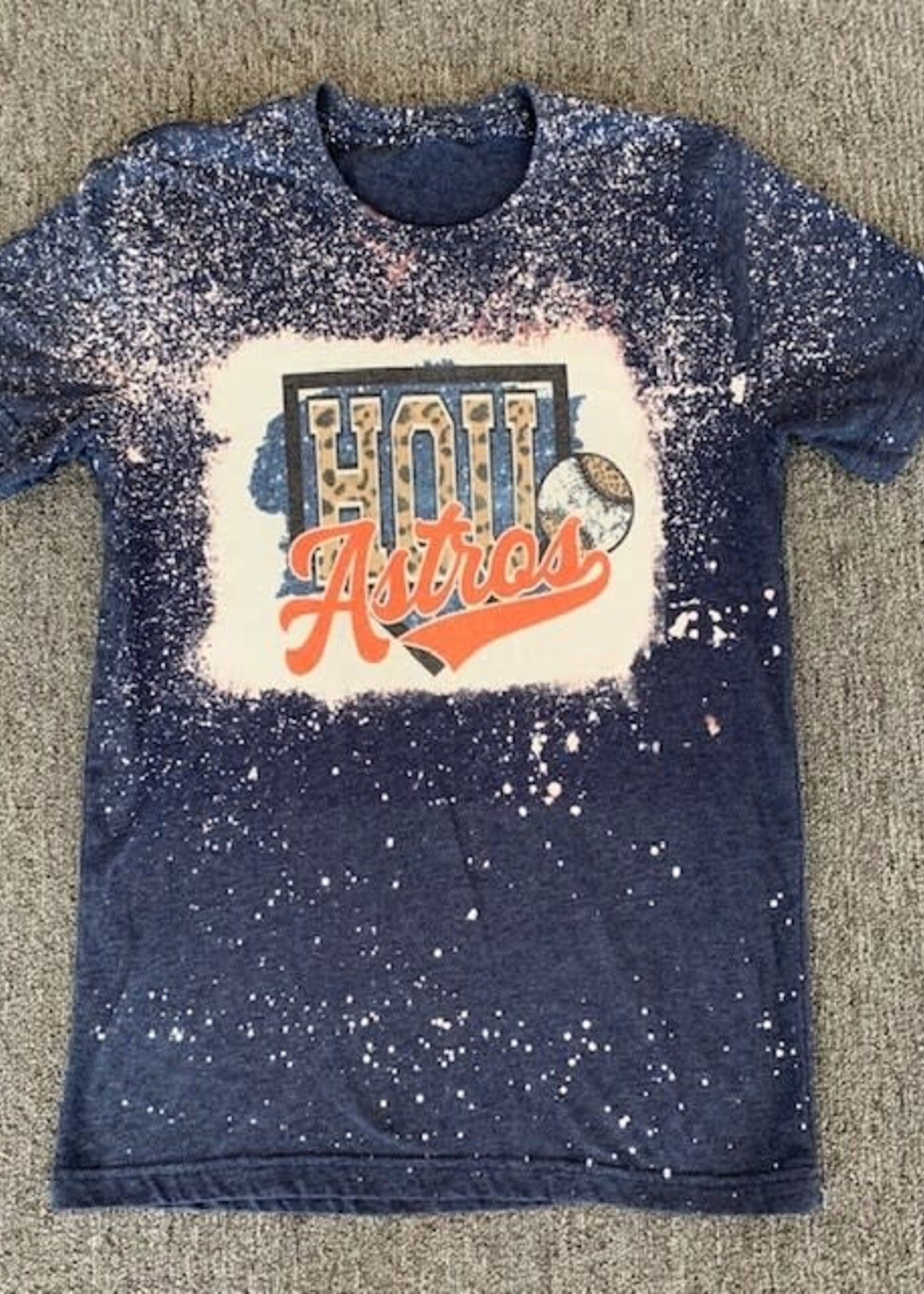 Empty Nest Creations Bleached Astros Shirt